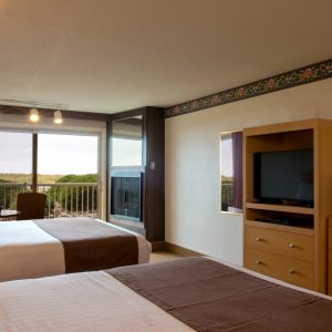Oceanfront queen double bed